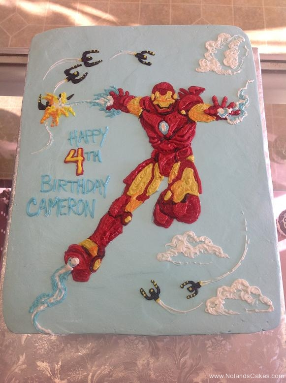 1090, 4th birthday, fourth birthday, ironman, marvel, superhero, superheroes, red, yellow, blue, sky