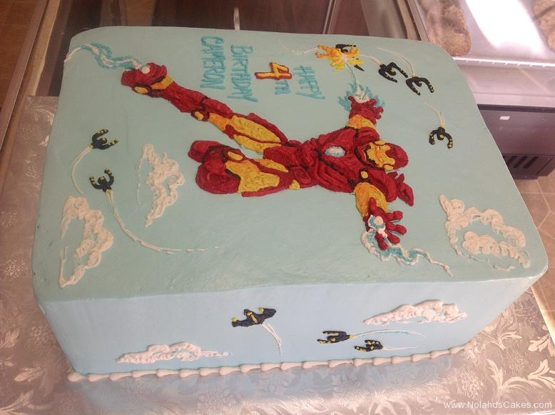 1099, 4th birthday, fourth birthday, ironman, marvel, superhero, superheroes, red, yellow, blue, sky
