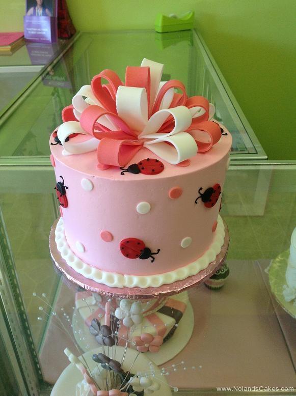 983, birthday, bow, dots, lady bug, ladybug, pink, white