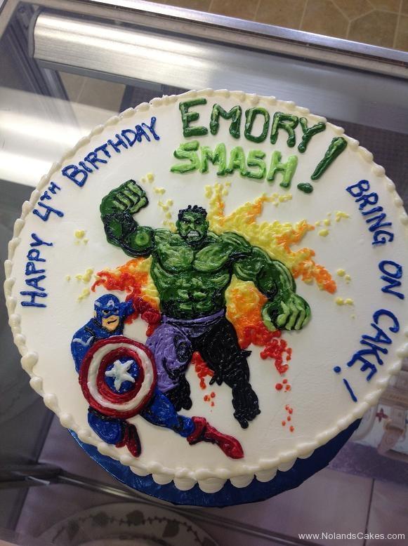 1156, 4th birthday, fourth birthday, superhero, superheros, hulk, captain america, marvel, white, blue, green