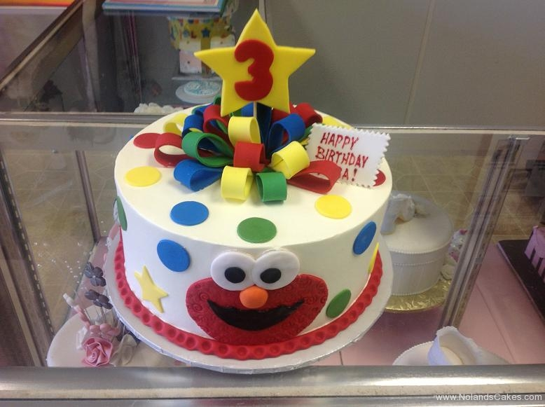 1200, 3rd birthday, third birthday, bright, primary, red, blue, green, yellow, elmo, cookie monster, sesame street, star, stars, face