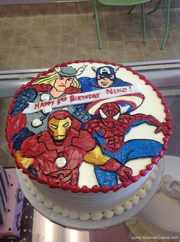 1228, 3rd birthday, third birthday, thor, ironman, captain america, spiderman, superhero, superheroes, marvel, red, blue, white