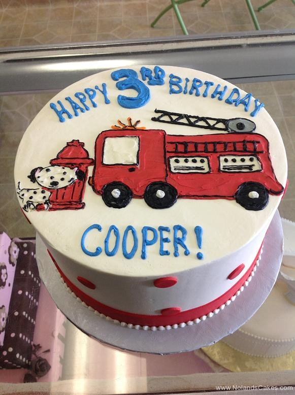 1244, 3rd birthday, third birthday, fire truck, emergency, dog, dalmatian, blue, red, white