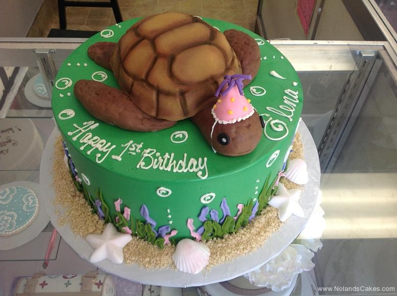 1284, first birthday, 1st birthday, turtle, sea turtle, ocean water, starfish, kelp, green, brown, hat