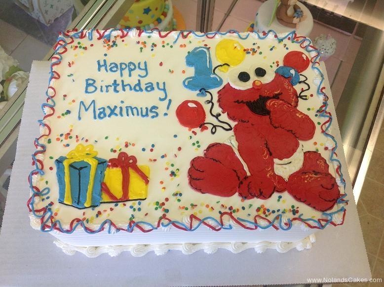 1315, first birthday, 1st birthday, elmo, sesame street, balloon, balloons, bright, primary, blue, red, yellow, white