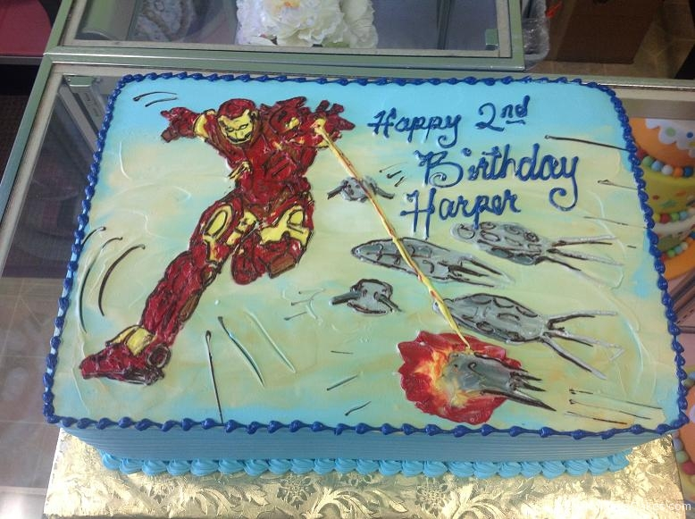 1324, 2nd birthday, second birthday, ironman, marvel, superhero, superheroes, blue, red, yellow, sky