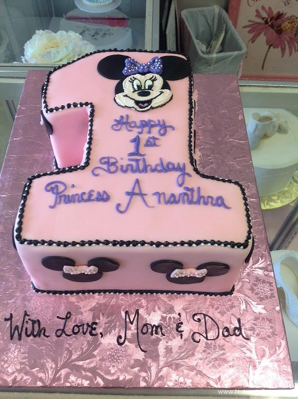 1337, first birthday, 1st birthday, minnie mouse, minnie, disney, pink, white, black, ears, bow, bows, purple