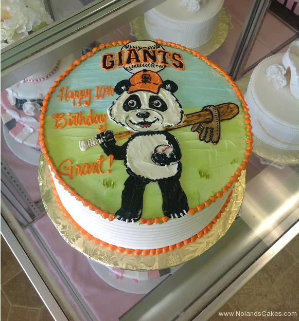 1000, 10th birthday, tenth birthday, giants, sf giants, san francisco, panda, baseball, orange, black, white, green, blue