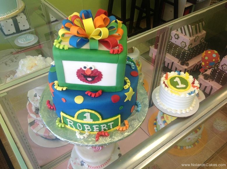 1356, fisrt birthday, 1st birthday, sesame street, elmo, primary, red, blue, green, yellow, smash cake
