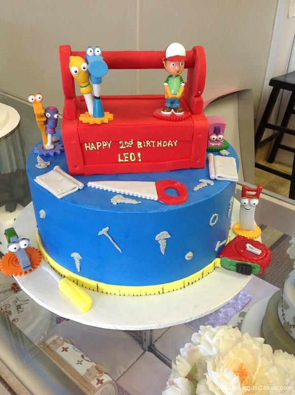 1015, second birthday, 2nd birthday, handy manny, tools, saw, drill, blue, red