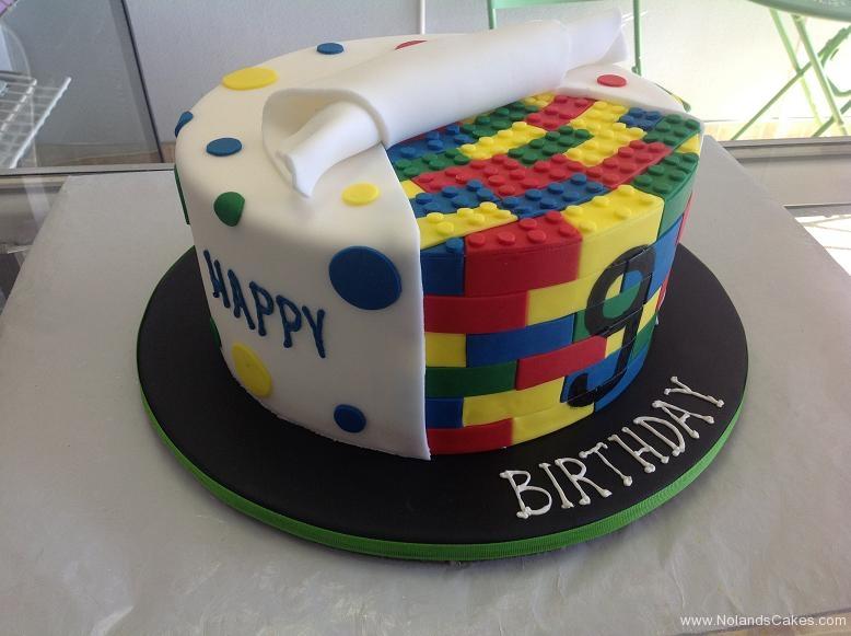 1466, 9th birthday, ninth birthday, lego, legos, primary, bright, dot, dots, yellow, red, blue, green
