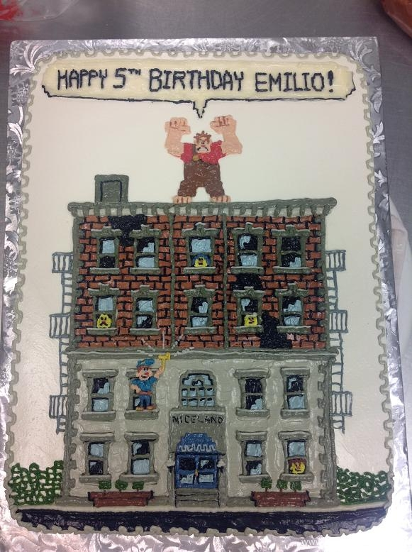 1491, 5th birthday, wreck it ralph, building, bricks, niceland, white, gray, grey