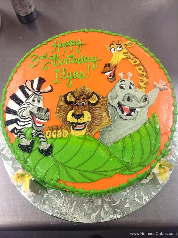 1496, 3rd birthday, third birthday, madagascar, melman, gloria, alex, marty, leaf, leaves, orange, zoo, animals