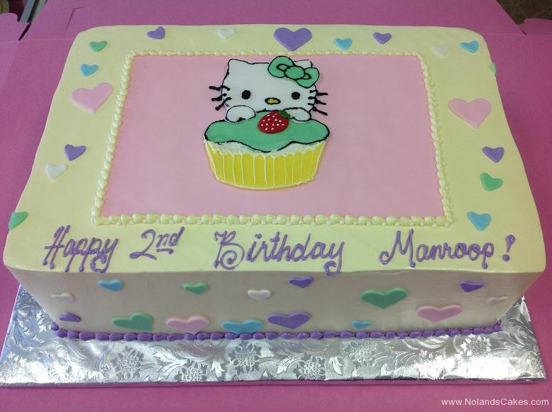 1036, second birthday, 2nd birthday, hello kitty, heart, hearts, pink, blue, purple, green