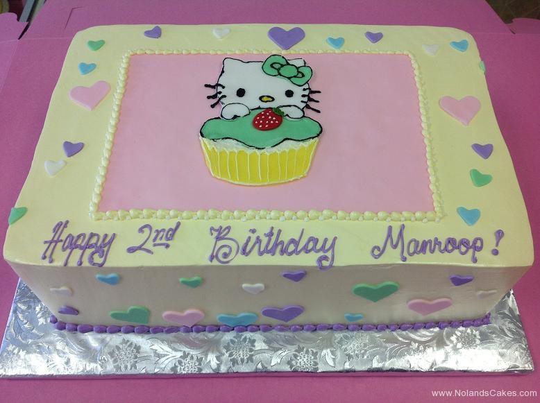 1036, second birthday, 2nd birthday, hello kitty, heart, hearts, pink, blue, purple, green