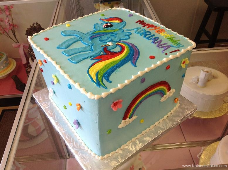 1533, birthday, rainbow, rainbow dash, my little pony, ponies, flower, flowers, blue, bright