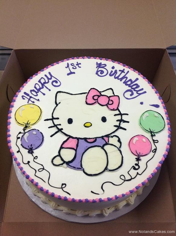 1045, first birthday, 1st birthday, hello kitty, pastel, balloon, balloons