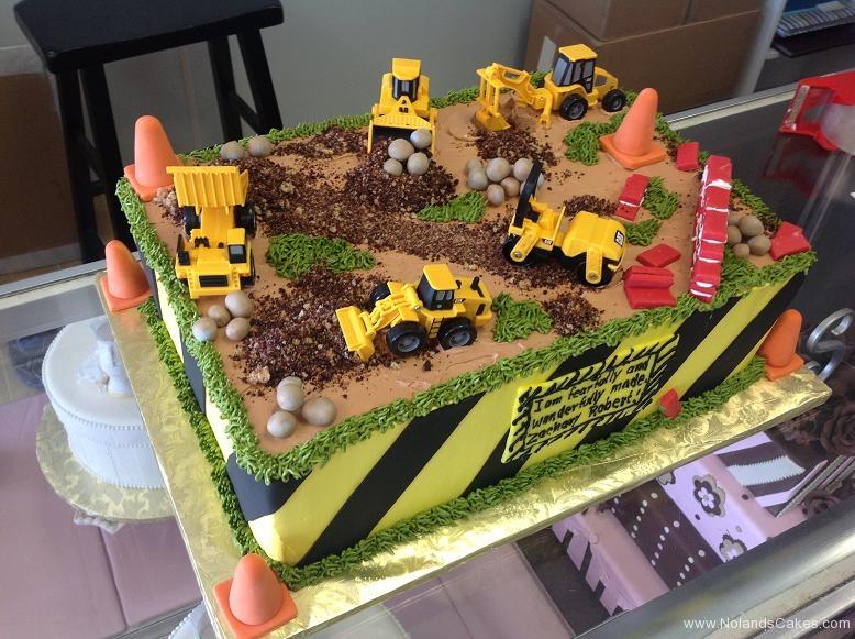 1553, birthday, construction, tonka, construction site, dirt, dump truck, digger, cone, cones