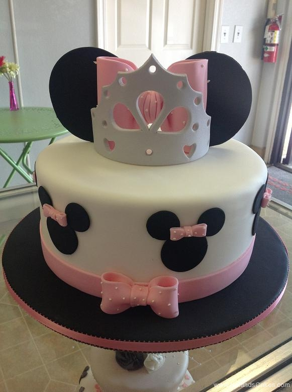 1561, birthday, minnie mouse, disney, crown, tiara, bow, bows, ears, pink, white, black
