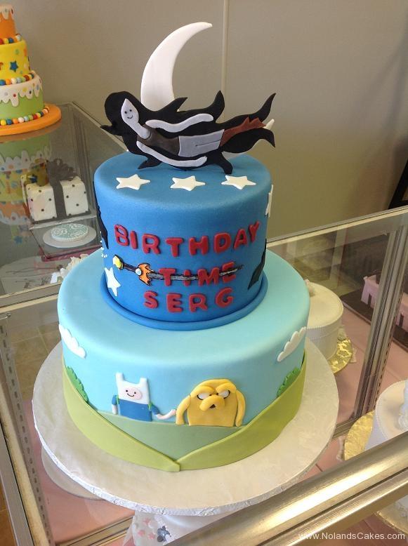 1048, birthday, adventure time, finn, jake, marceline, blue, star, stars, moon, tiered