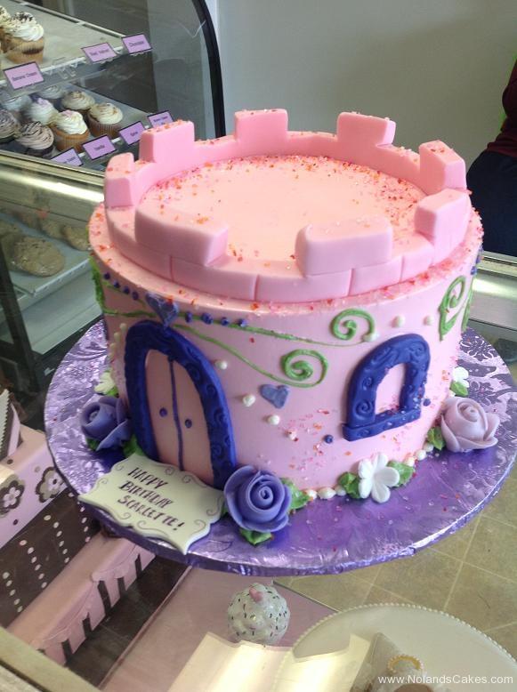 1053, birthday, castle, pink, princess, purple, blue, flower, flowers