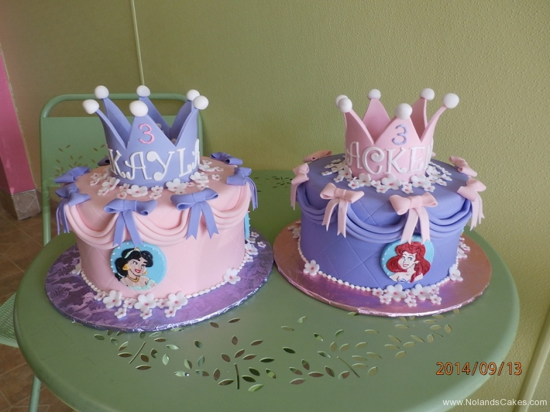 1637, third birthday, 3rd birthday, crown, princess, tiara, disney, jasmine, ariel, pink, purple, flower, flowers, bow, bows