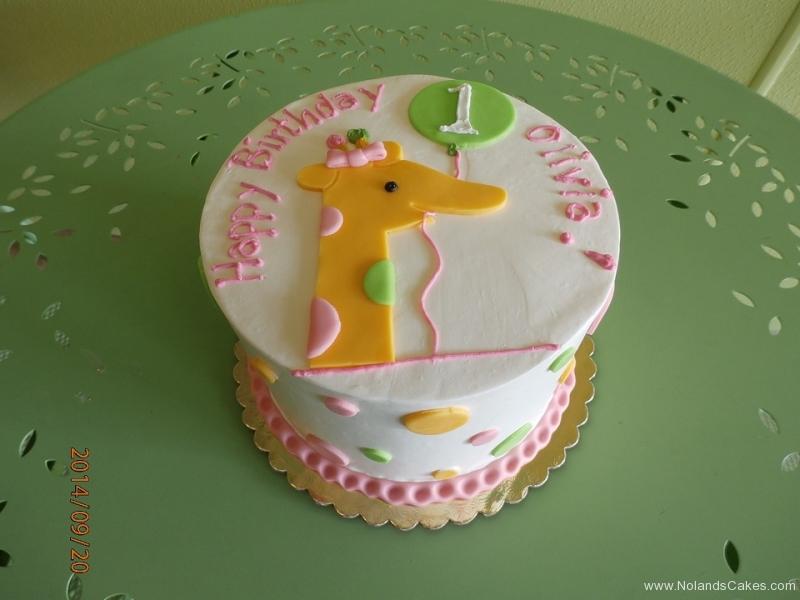 1655, first birthday, 1st birthday, giraffe, balloon, balloons, dot, dots, pink, yellow, pastel, green