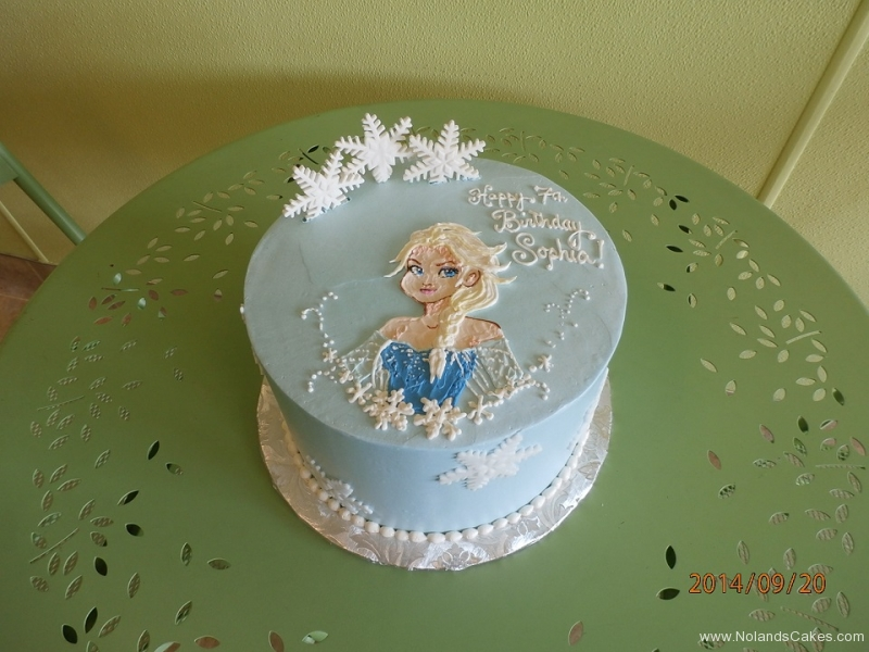 1664, 7th birthday, seventh birthday, elsa, frozen, disney, princess, snow, snowflake, snowflakes, blue, white