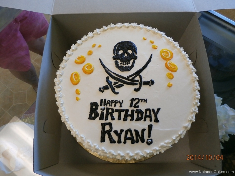 1682, 12th birthday, twelfth birthday, pirate, gold, flag, white, black, yellow
