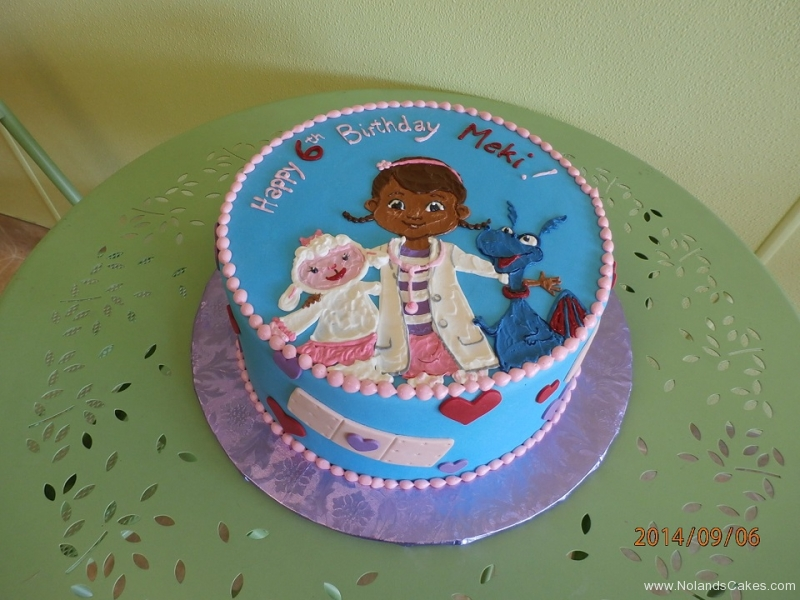 1612, 6th birthday, sixth birthday, doc mcstuffins, lamb, dragon, blue, doctor, nurse, white, heart, hearts, red