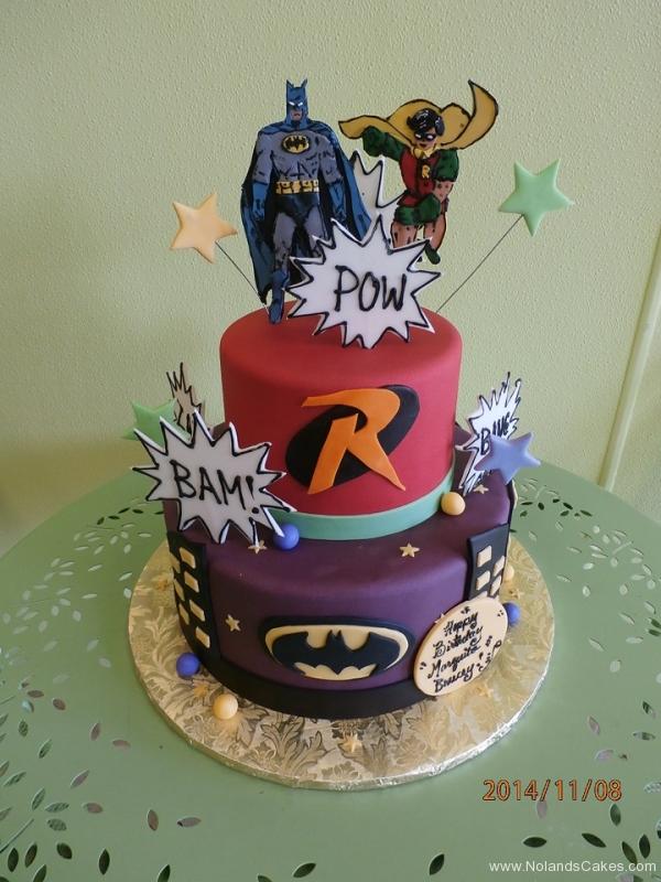 1708, birthday, batman, robin, dc, superhero, superheros, star, stars, red, purple, black, tiered