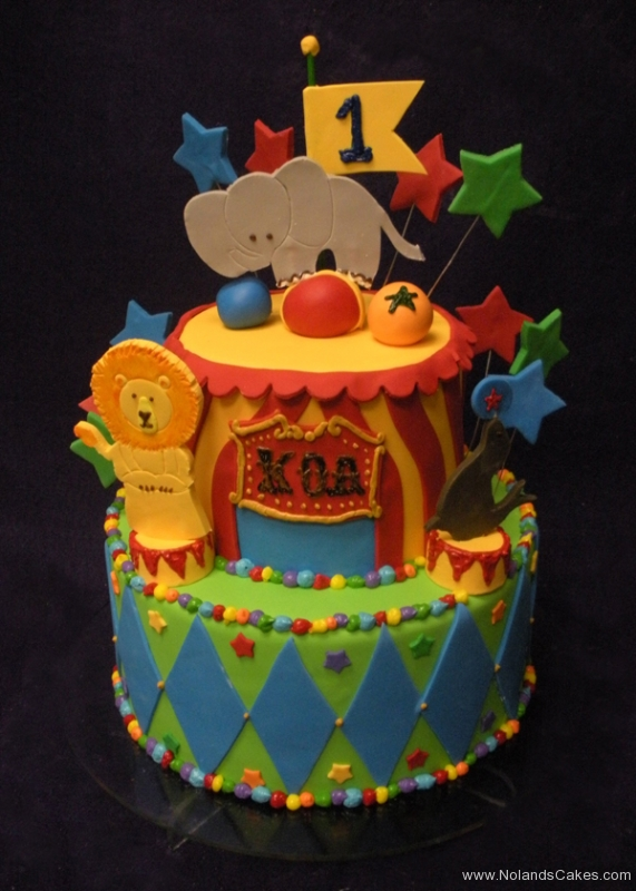1738, birthday, circus, bright, primary, lion, seal, elephant, star, diamonds, blue, yellow, red, green