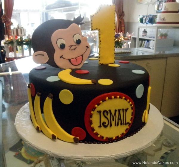 1769, first birthday, 1st birthday, curious george, monkey, banana, bananas, spots, dots, spot, dot, black, yellow, blue, red