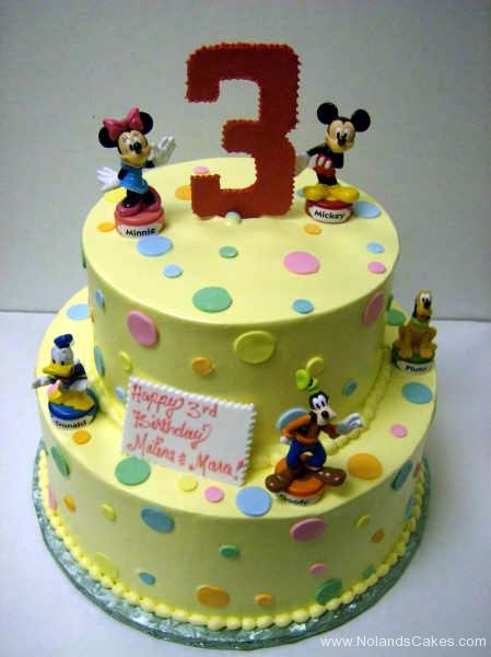 1827, third birthday, 3rd birthday, mickey mouse, minnie, donald duck, goofy, pluto, dot, dots, pastel, yellow, blue, green, pink