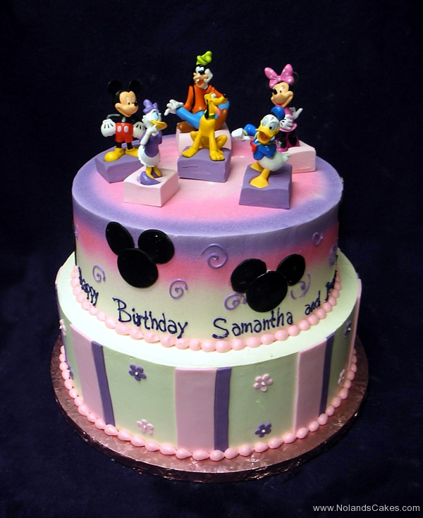 1825, birthday, disney, mickey mouse, minnie, donald duck, daisy, goofy, pluto, ears, flower, flowers, stripe, stripes, pink, purple, white, black
