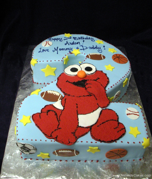 1883, second birthday, 2nd birthday, elmo, sesame street, football, baseball, basketball, sport, sports, star, stars, carved