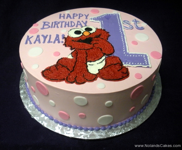 1889, first birthday, 1st birthday, elmo, sesame street, pink, purple, dot, dots