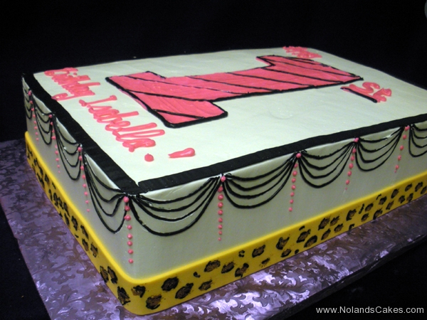 1917, first birthday, 1st birthday, swag, swags, animal print, pink, white, black, yellow