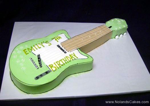 1941, 7th birthday, seventh birthday, guitar, music, green, carved