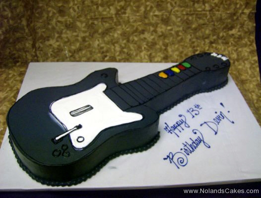 1945, 13th birthday, 13th birthday, guitar, black, white, carved