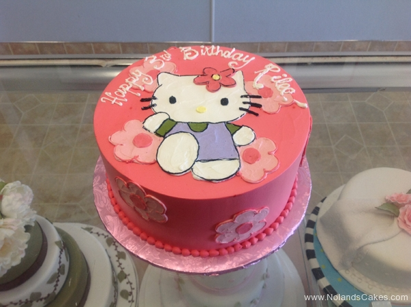 1961, 3rd birthday, third birthday, hello kitty, flower, flowers, pink, purple