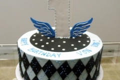 116, 1st birthday, first birthday, blue, argyle, wings, birthday, black