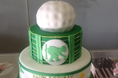 123, 1st birthday, first birthday, birthday, golf, gold ball, green, white