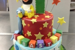 127, 1st birthday, first birthday, birthday, mickey mouse, mickey, red, green, blue, brights, stars