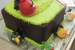 169, angry birds, red, green, piggies, grass, brown, birthday