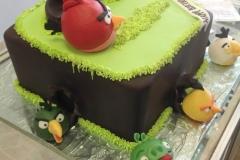 169, angry birds, red, green, piggies, grass, brown, birthday