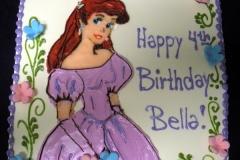 173, 4th birthday, fourth birthday, ariel, disney, disney princess, princess, flowers, purple