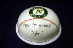 176, birthday, 11th birthday, eleventh birthday, oakland A's, oakland athletics, carved, baseball