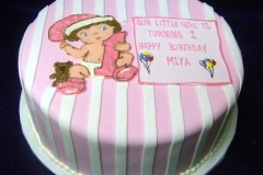 186, baby, pink, stripe, white, birthday, 1st birthday, first birthday, bear, teddy bear