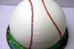 201, baseball, green, white, 12th birthday, carved